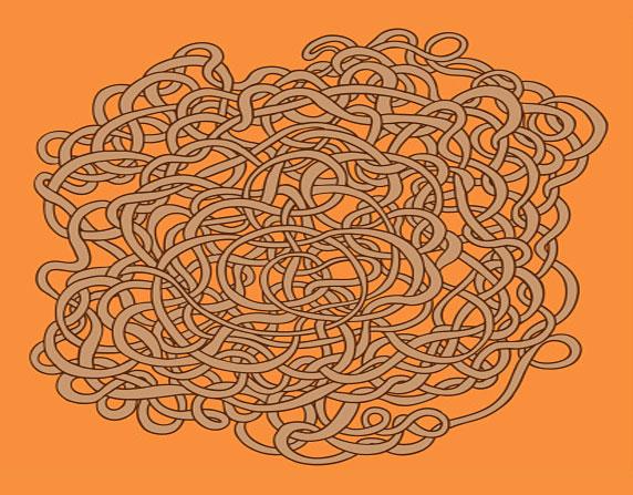 Ilustración de un enredo