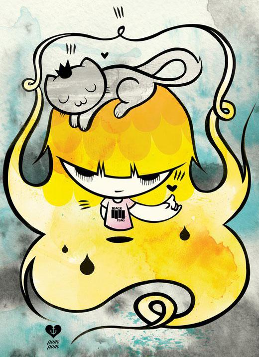 Ilustração de Pum Pum