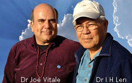 Photo du Dr Joe Vitale et du Dr Ihaleakalá Hew Len