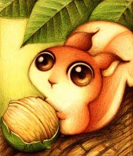 Disegno di uno scoiattolo (Titolo: Ardilla, Autore: Faboarts)