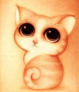 Dessin d'un mignon petit chat (Titre: Un gato, Auteur: Fabo)