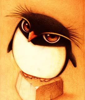 Disegno di un pinguino (Titolo: Un pingüino, Autore: Faboarts)