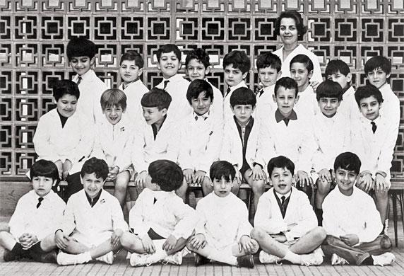 En mi escuela no había educación emocional (foto grupal, año 1970)
