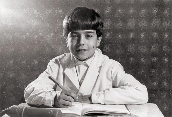 Axel Piskulic en la escuela, en el año 1970