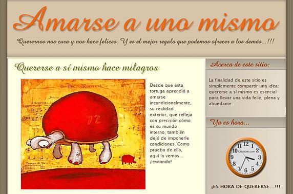 Imagen del blog 'Amarse a uno mismo' con un theme anterior