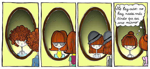 Historieta acerca de la autoestima (Título: De uno mismo, Autor: Osoconalas)