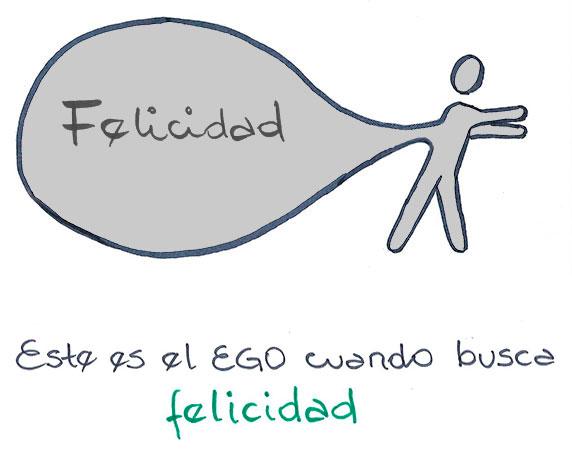 Este es el ego cuando busca la felicidad (Ilustración de Axel Piskulic)