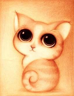 Dibujo de un gatito adorable