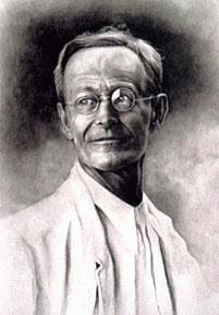 Retrato de Hermann Hesse (pintura de Hardy Cole)