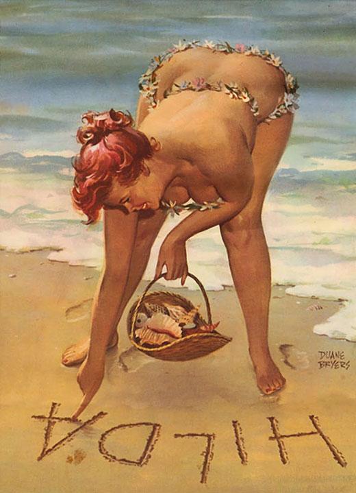 Hilda en la playa (autor: Duane Bryers)