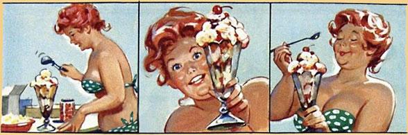 Hilda prendendo gelato (autore: Duane Bryers)