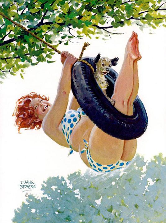 Hilda in altalena (autore: Duane Bryers)