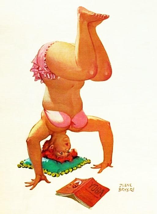 Hilda praticando Yoga (autore: Duane Bryers)