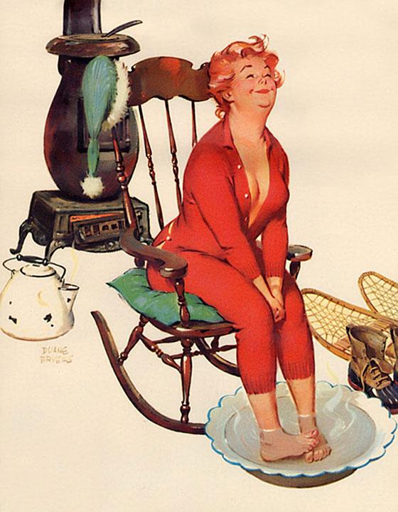 Hilda - Bagno ai piedi (autore: Duane Bryers)