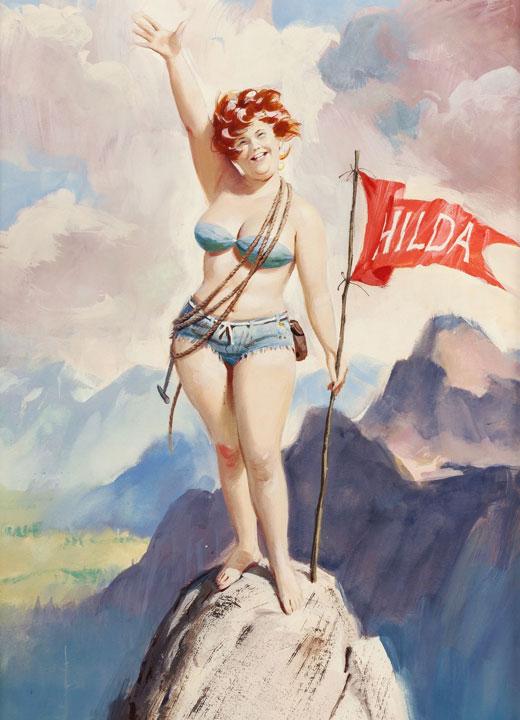 Hilda en la cima de una montaña (autor: Duane Bryers)