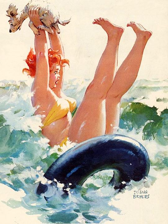 Hilda en el mar (autor: Duane Bryers)