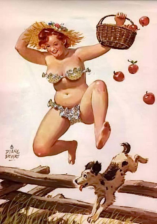 Hilda saltando una cerca (autor: Duane Bryers)