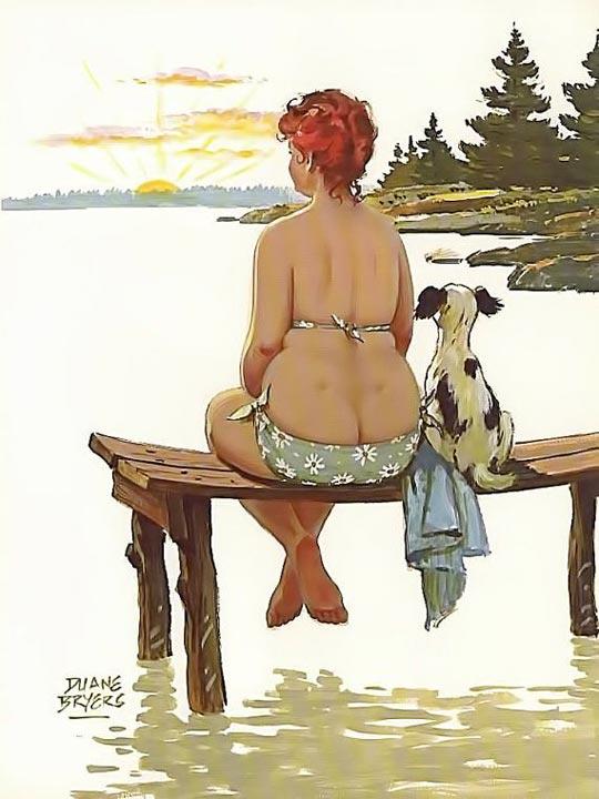 Hilda mirando el atardecer (autor: Duane Bryers)