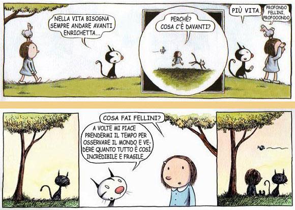 Le storielle di Enriqueta e Fellini, di Liniers