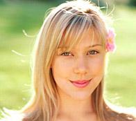 Foto de una joven sonriendo