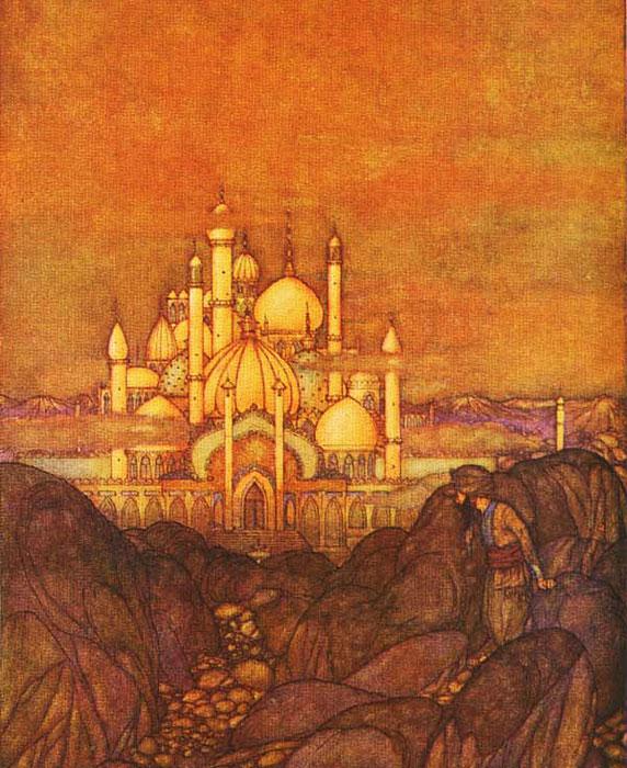 Les Mille et Une Nuits, illustration de Edmund-Dulac