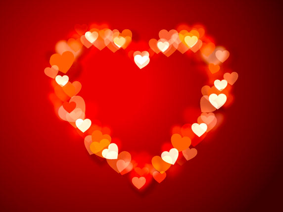 Ilustración de un gran corazón, símbolo de amor
