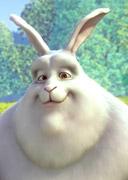 Imagen del conejo que protagonza el video Big Buck Bunny