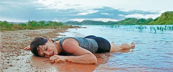 Sandra Bullock en la película Gravity