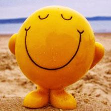 Um grande sorriso