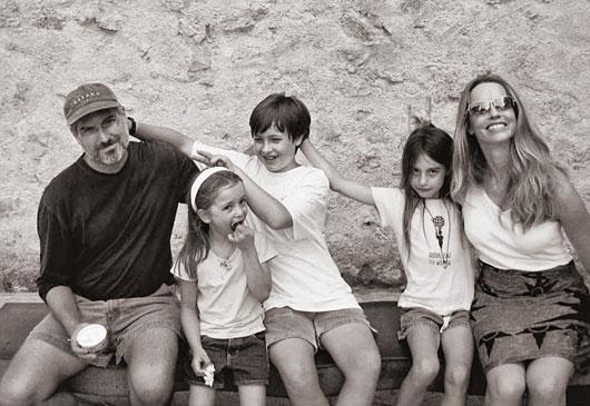 Steve Jobs com a sua família