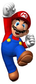 Dessin de Mario, le protagoniste du jeu vidéo Super Mario Bros.