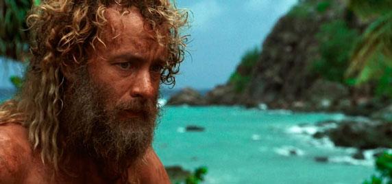 Tom Hanks en la película Náufrago