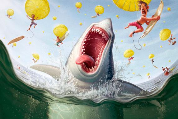 Le fantasie di uno squalo (Autore: Tiago Hoisel)