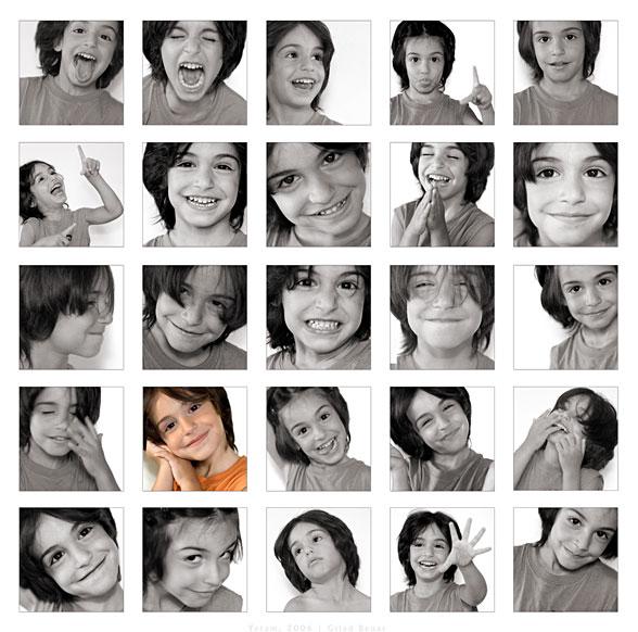 Muchas fotos de una misma niña (Título: Yotam, 2006 / Autor: Gilad Benari)