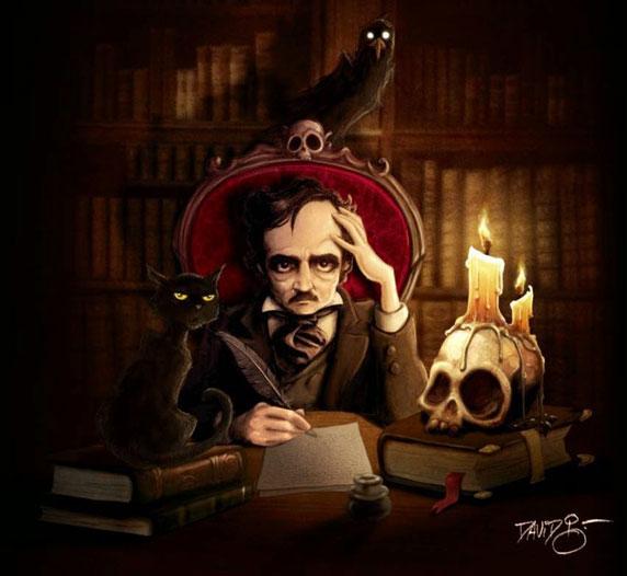 Edgar Allan Poe (ilustración de David G. Forés)