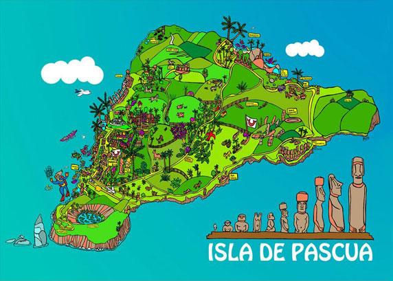 Mapa de la isla de Pascua