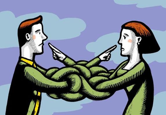 Una pareja en conflicto