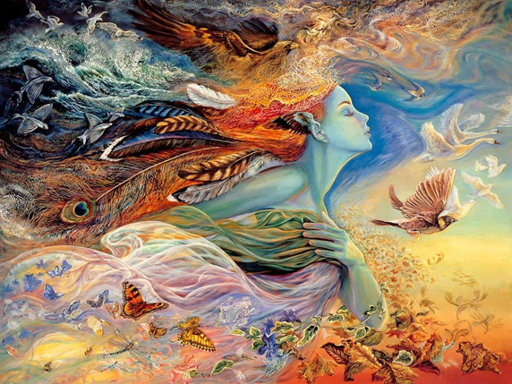 The Spirit of Flight (El espítitu del vuelo), de Josephine Wall